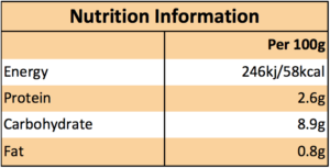 Rakusens Tuscan Bean soup nutritional information